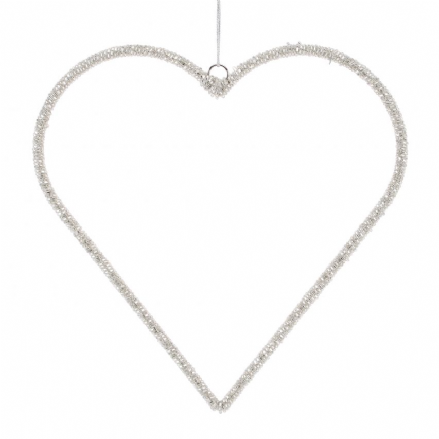 Silver Hanging Heart - Extra Large
